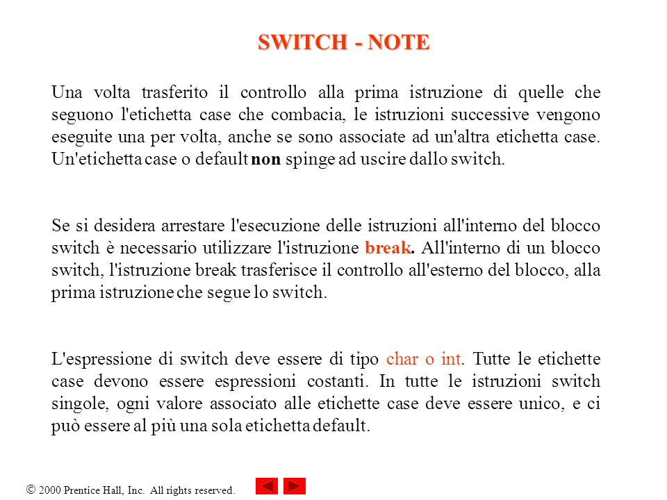 SWITCH - NOTE