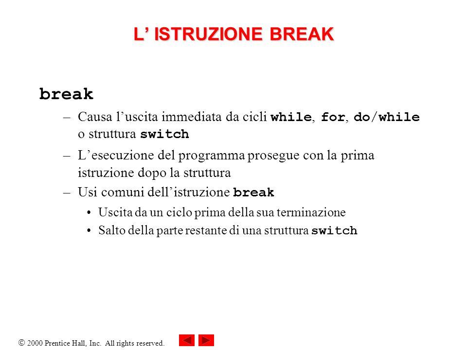 L' ISTRUZIONE BREAK break