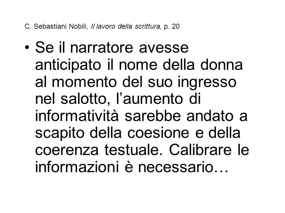 C. Sebastiani Nobili, Il lavoro della scrittura, p. 20