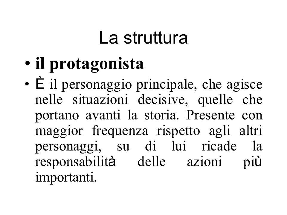 La struttura il protagonista