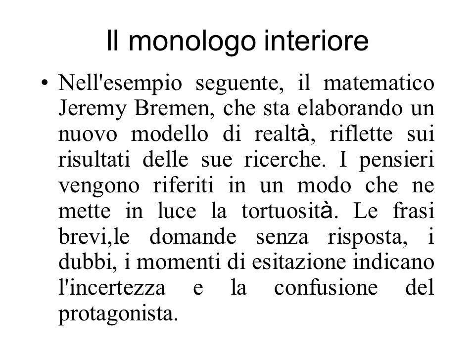 Il monologo interiore