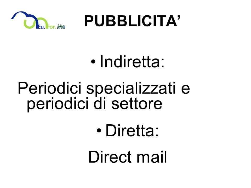 Periodici specializzati e periodici di settore Diretta: Direct mail