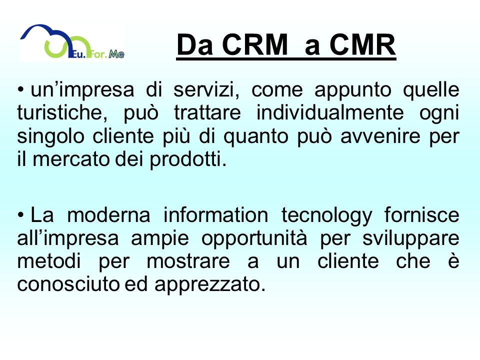 Da CRM a CMR