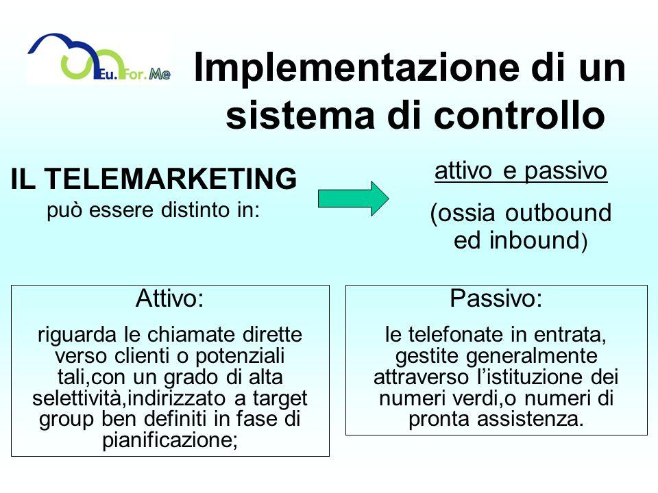 Implementazione di un sistema di controllo