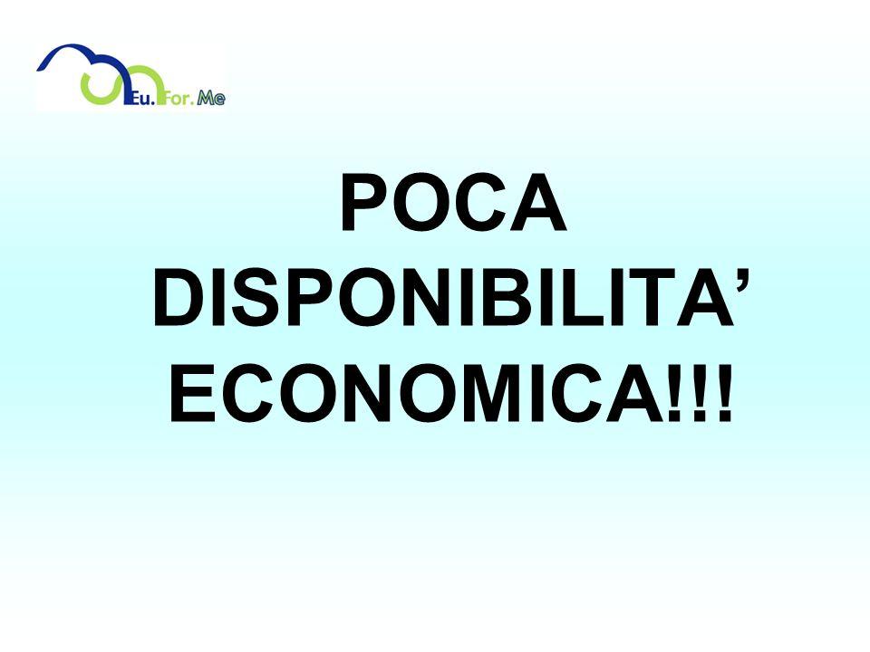 POCA DISPONIBILITA' ECONOMICA!!!