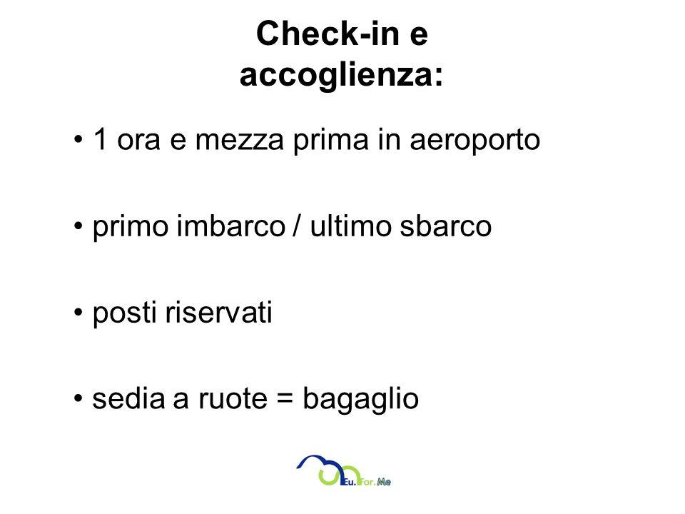 Check-in e accoglienza:
