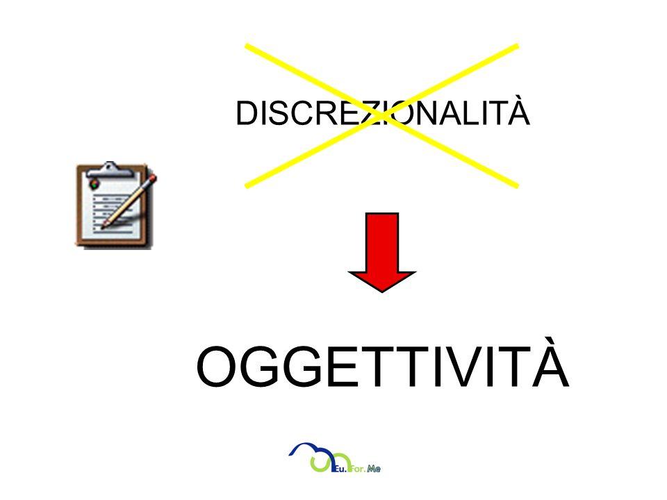 DISCREZIONALITÀ OGGETTIVITÀ