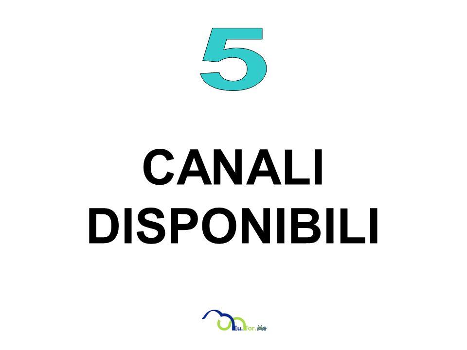 5 CANALI DISPONIBILI
