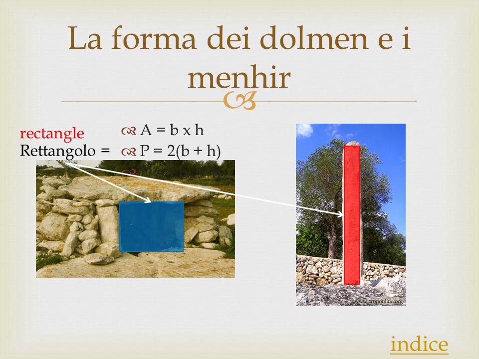 La forma dei dolmen e i menhir