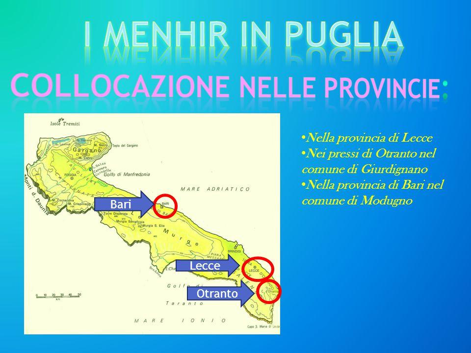 COLLOCAZIONE nelle provincie: