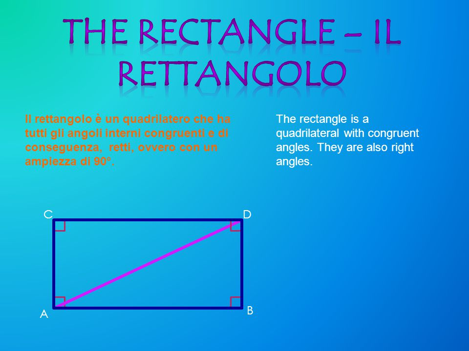 THE RECTANGLE – IL RETTANGOLO
