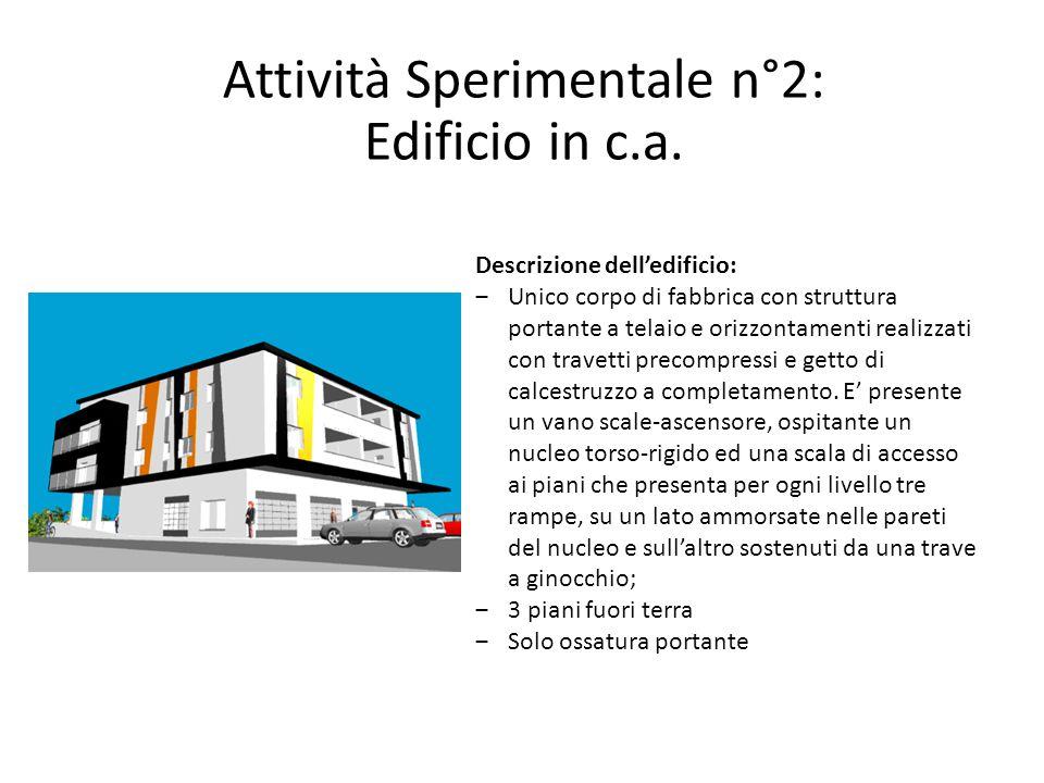 Attività Sperimentale n°2: Edificio in c.a.