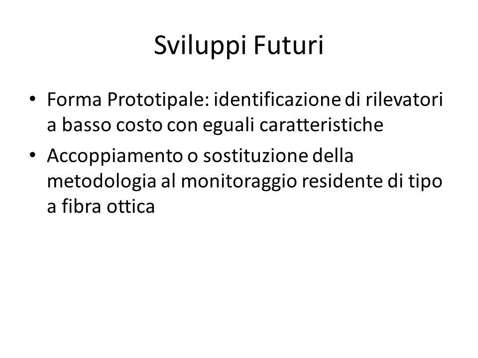 Sviluppi Futuri Forma Prototipale: identificazione di rilevatori a basso costo con eguali caratteristiche.