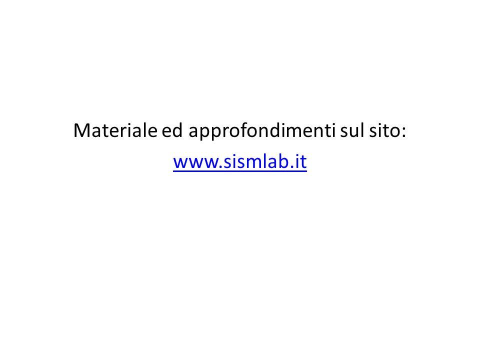 Materiale ed approfondimenti sul sito: www.sismlab.it