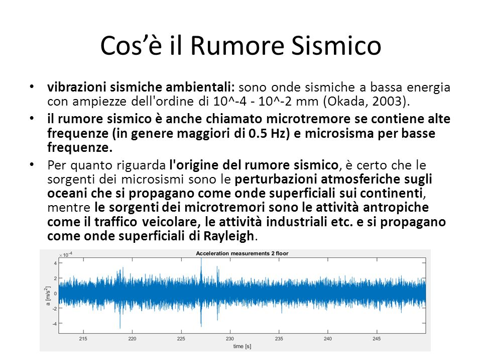 Cos'è il Rumore Sismico