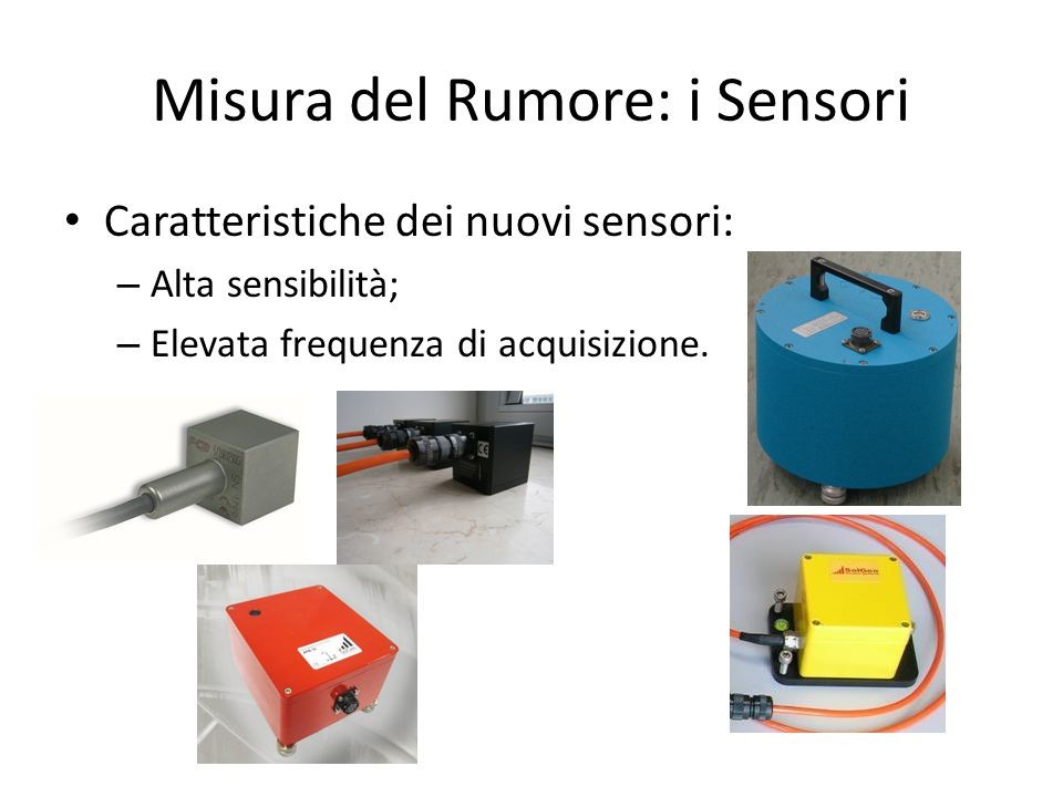 Misura del Rumore: i Sensori