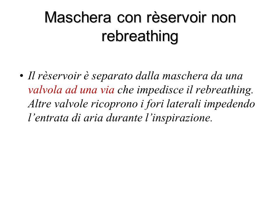 Maschera con rèservoir non rebreathing
