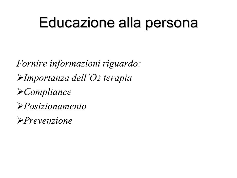 Educazione alla persona