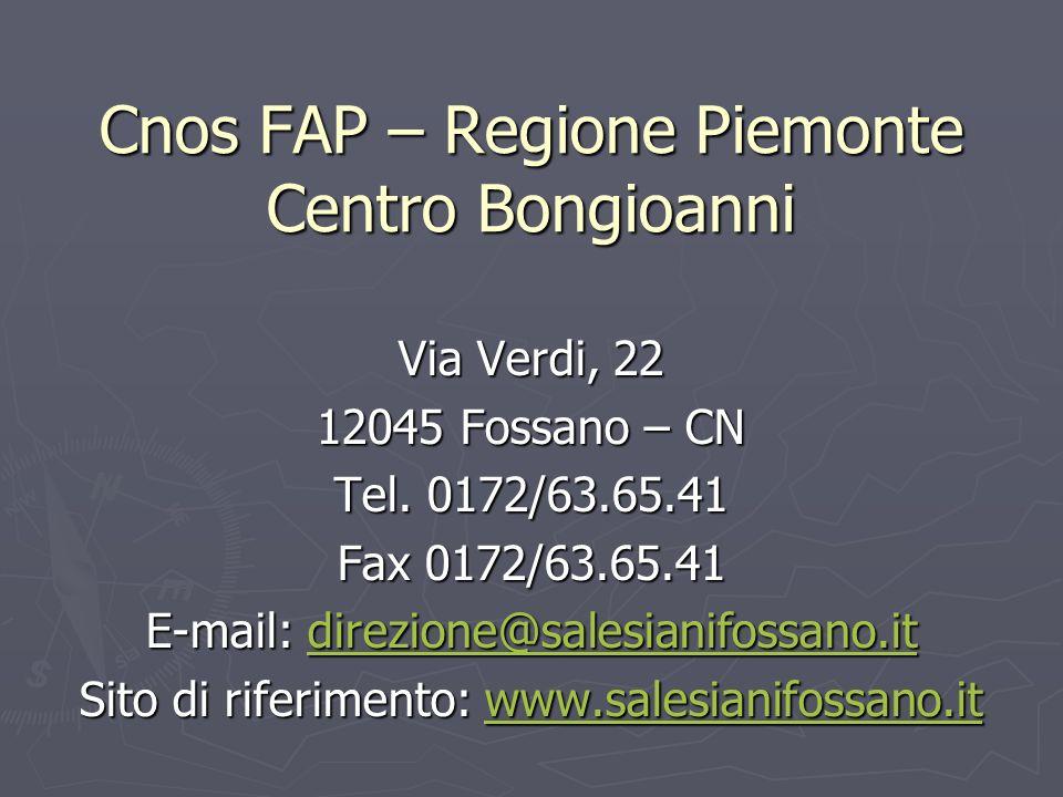 Cnos FAP – Regione Piemonte Centro Bongioanni
