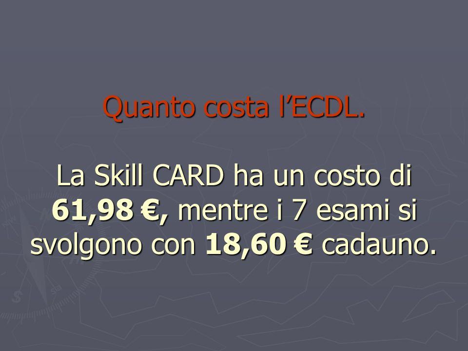 Quanto costa l'ECDL.