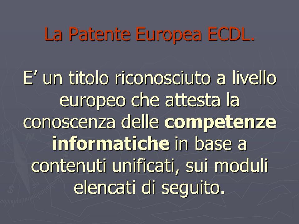 La Patente Europea ECDL