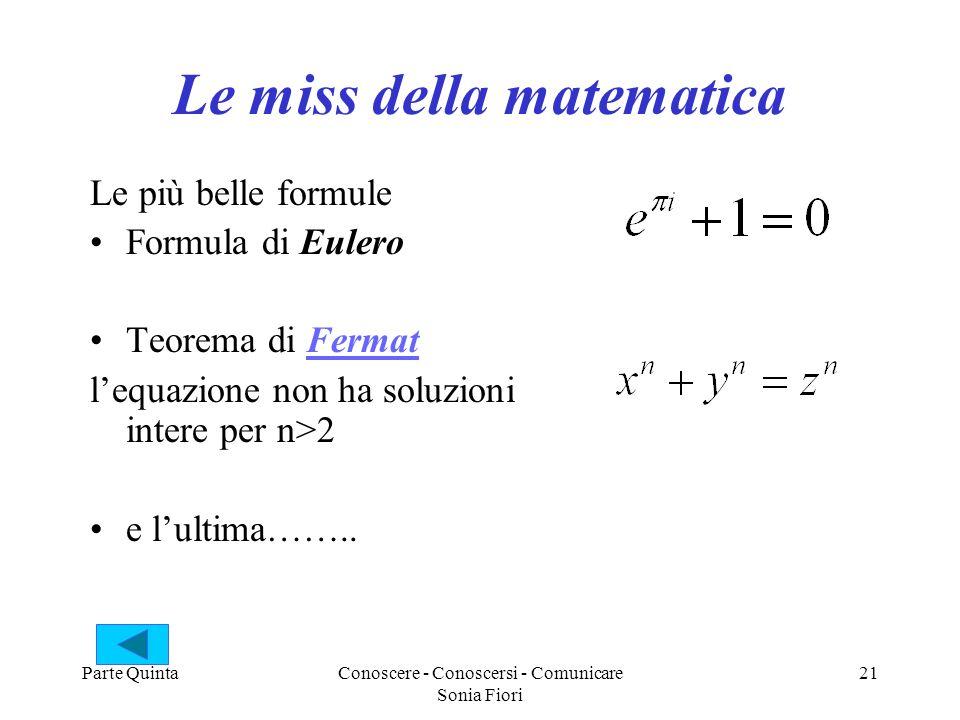 Le miss della matematica