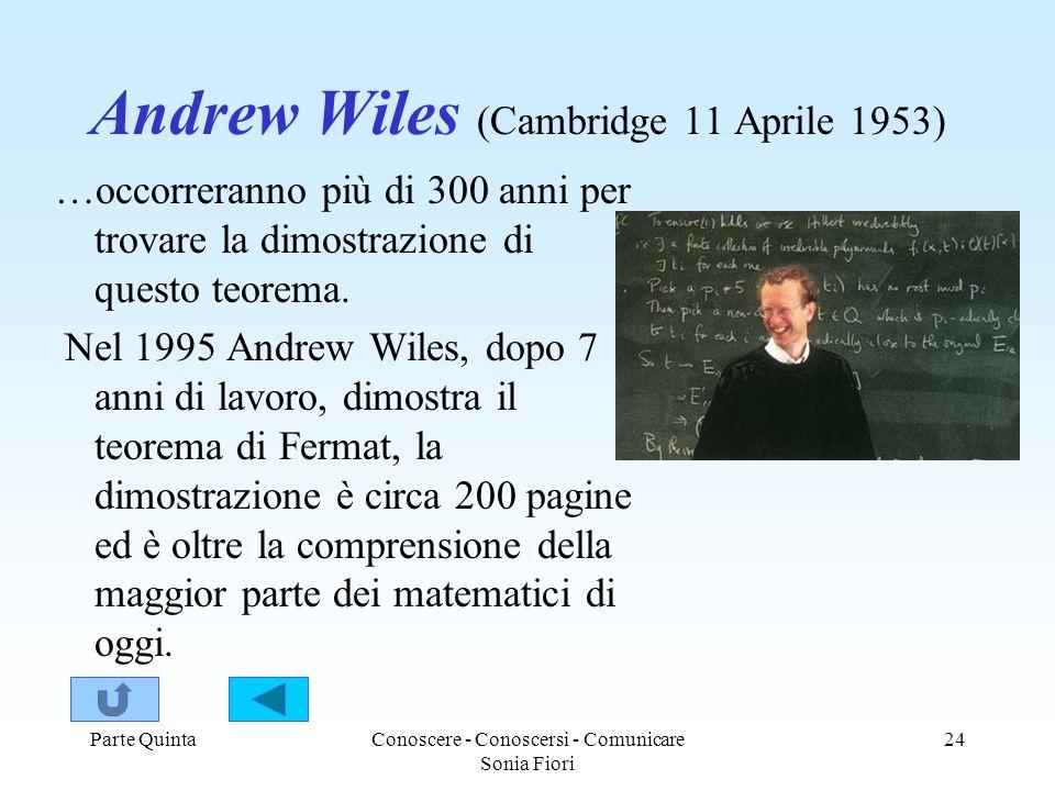 Andrew Wiles (Cambridge 11 Aprile 1953)