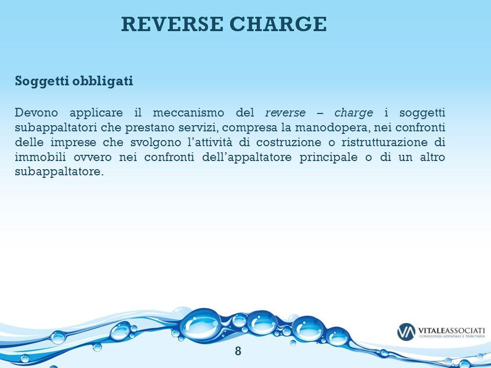 REVERSE CHARGE Soggetti obbligati