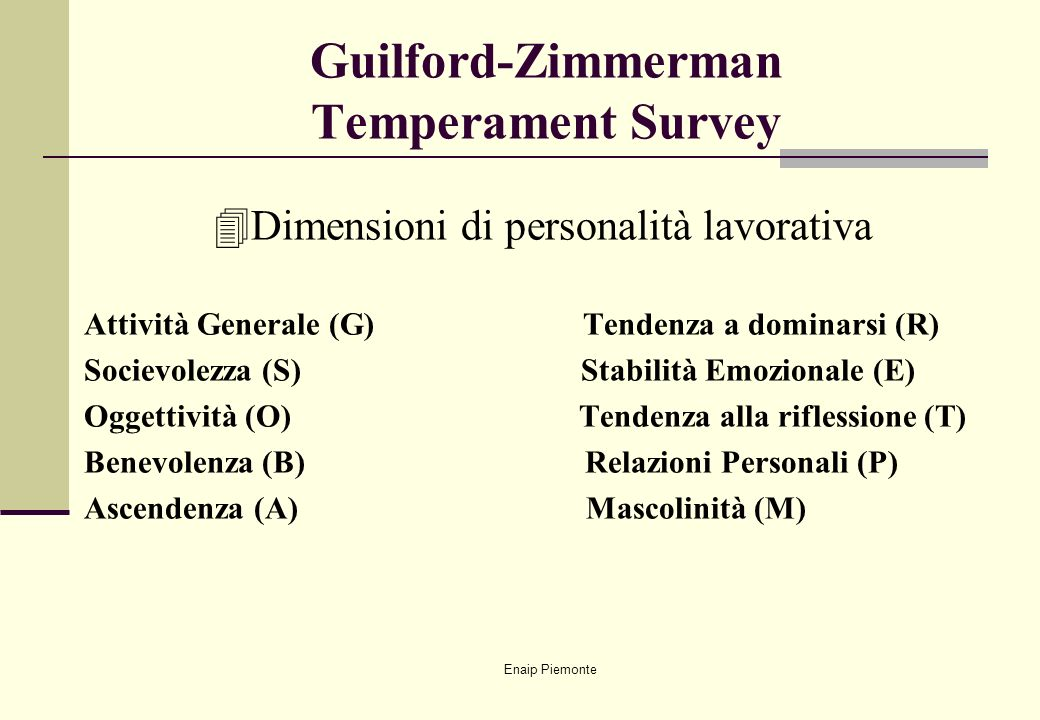 Guilford-Zimmerman Temperament Survey