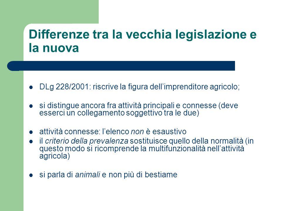 Differenze tra la vecchia legislazione e la nuova