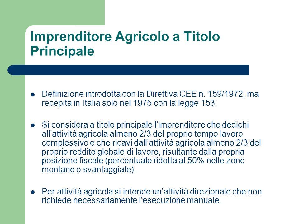 Imprenditore Agricolo a Titolo Principale