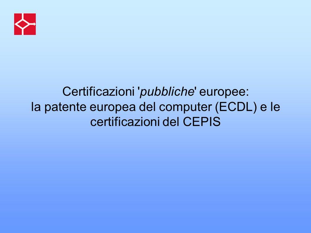 Certificazioni pubbliche europee: