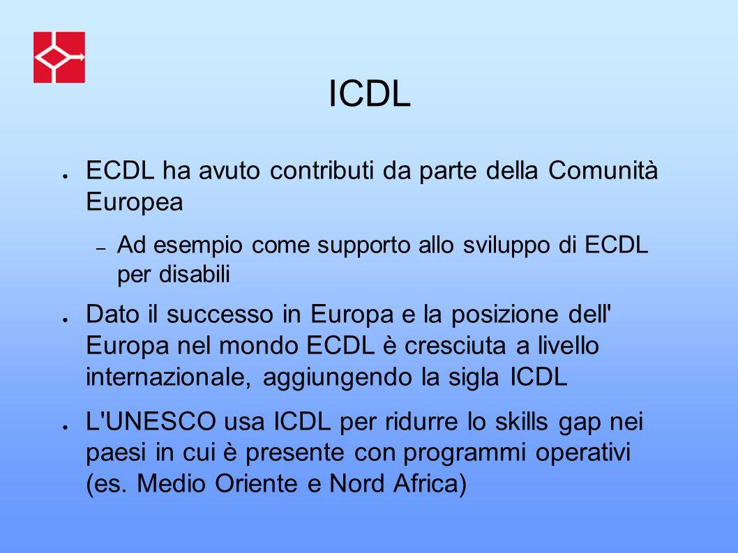 ICDL ECDL ha avuto contributi da parte della Comunità Europea
