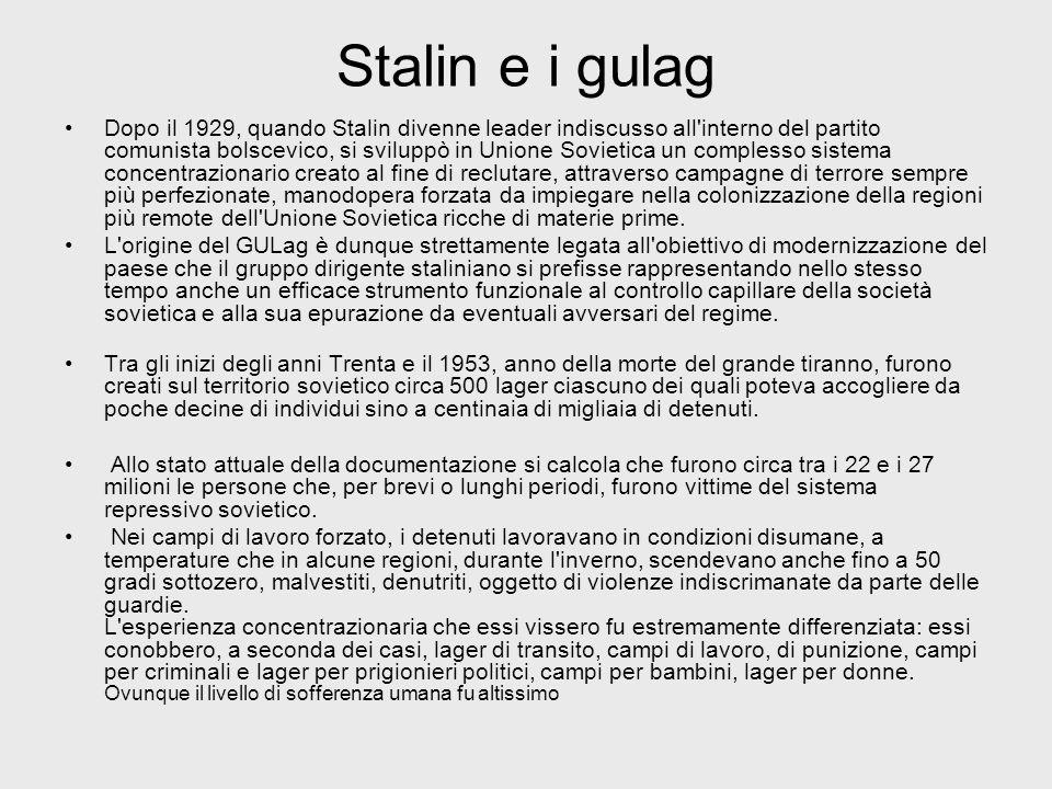 Stalin e i gulag