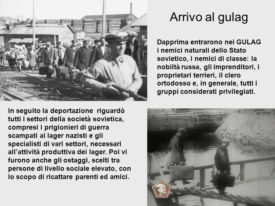 Arrivo al gulag