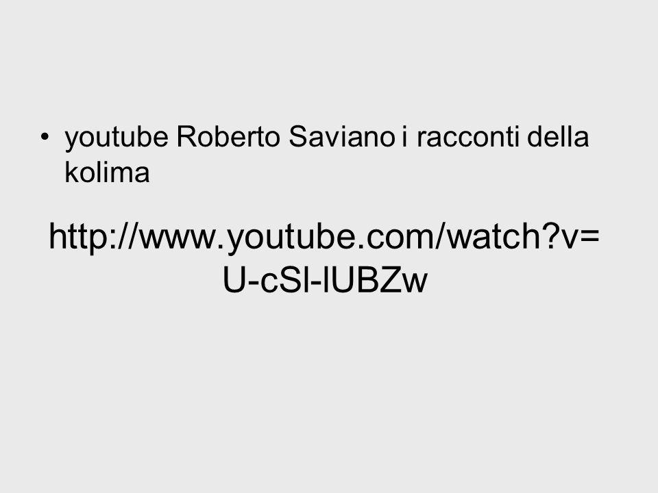 youtube Roberto Saviano i racconti della kolima