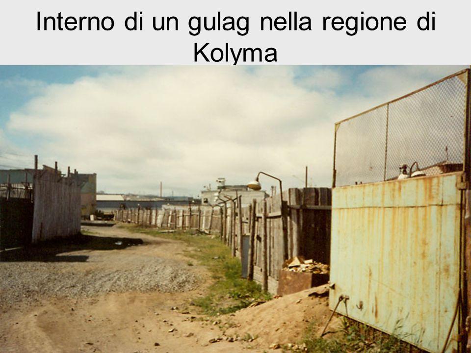 Interno di un gulag nella regione di Kolyma