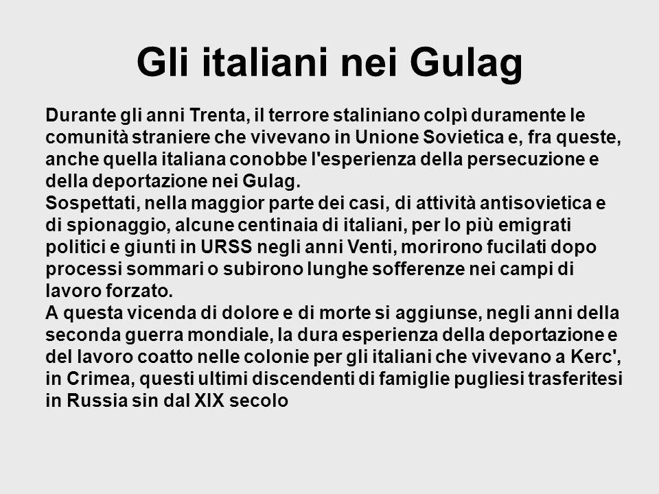 Gli italiani nei Gulag