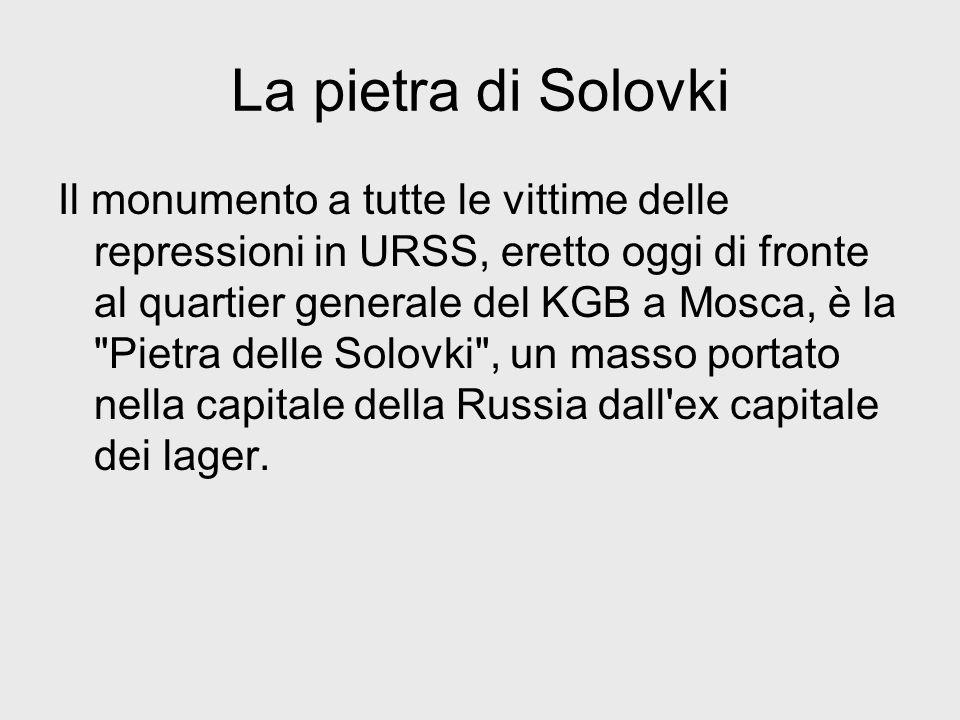La pietra di Solovki