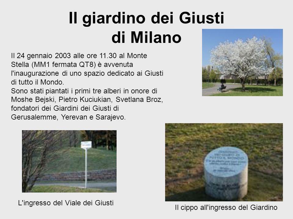 Il giardino dei Giusti di Milano