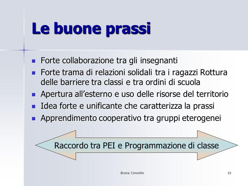 Raccordo tra PEI e Programmazione di classe