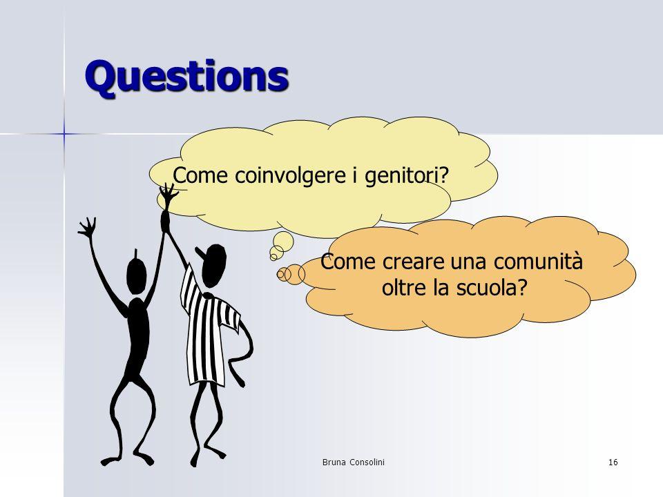 Questions Come coinvolgere i genitori Come creare una comunità