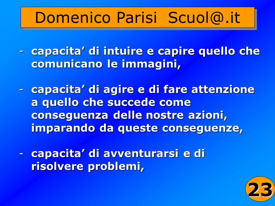 Domenico Parisi Scuol@.it