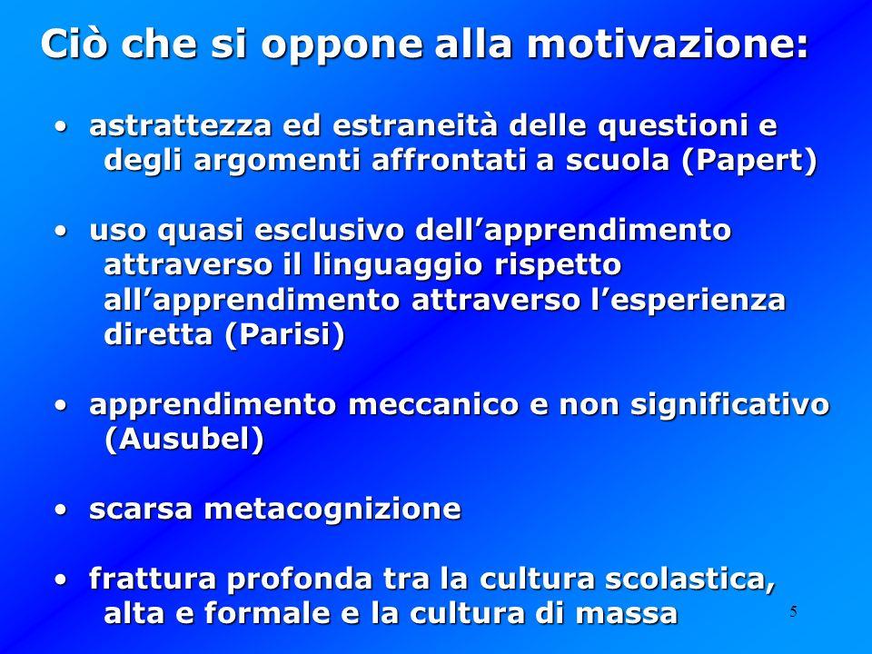 Ciò che si oppone alla motivazione: