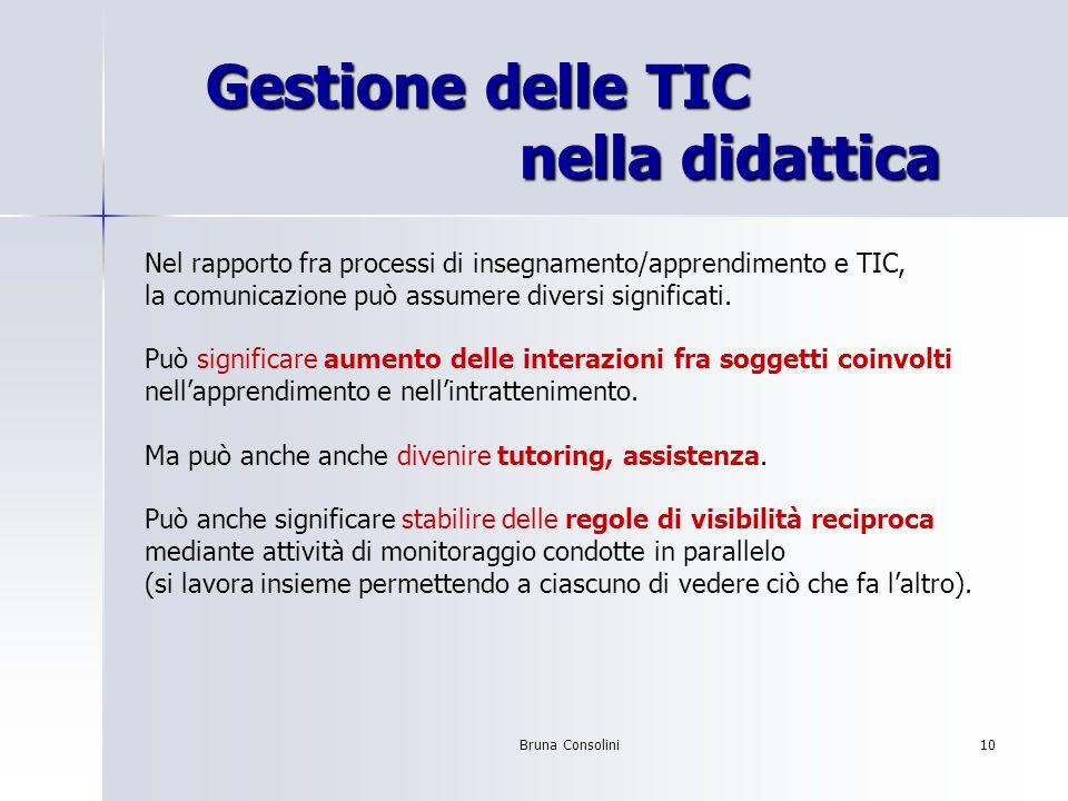 Gestione delle TIC nella didattica