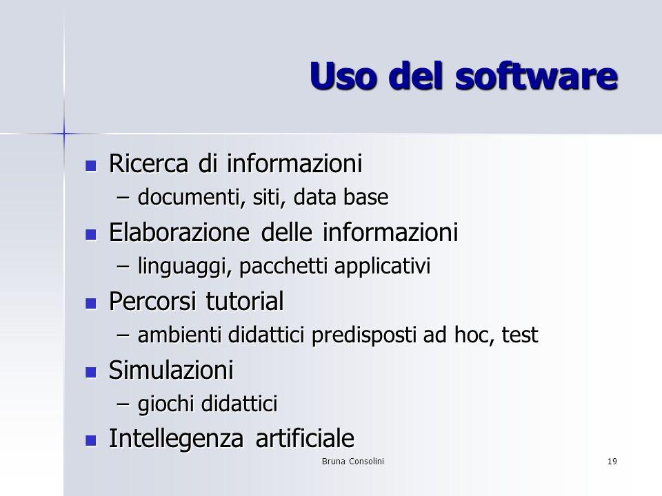 Uso del software Ricerca di informazioni