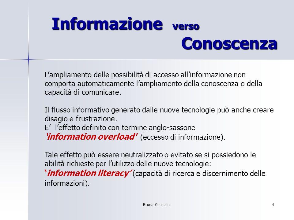 Informazione verso Conoscenza