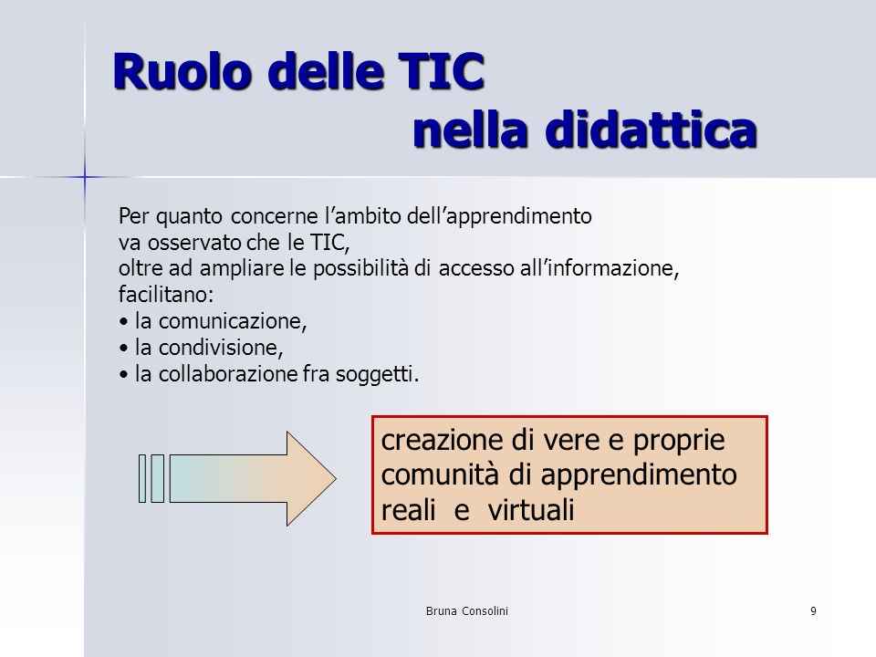 Ruolo delle TIC nella didattica