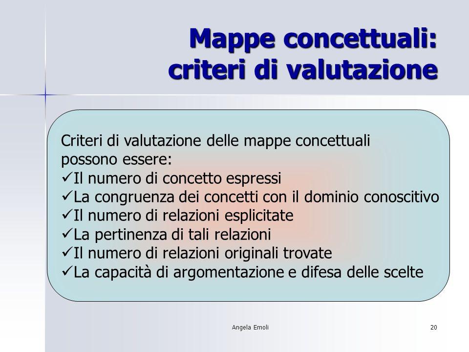 Mappe concettuali: criteri di valutazione