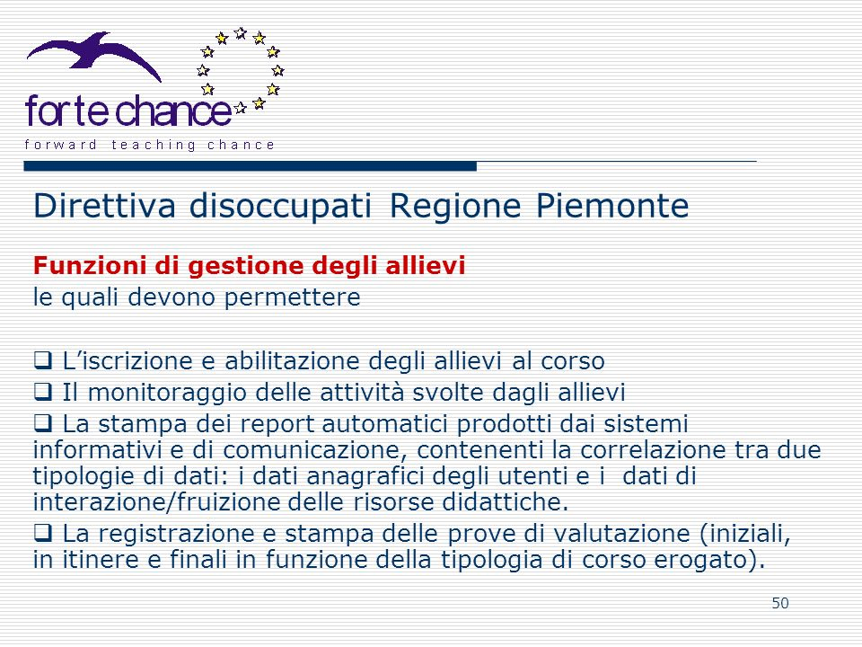 Direttiva disoccupati Regione Piemonte